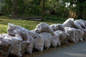 bags of leaves