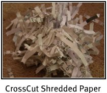 Cross Cut shredded paper is wrinkley