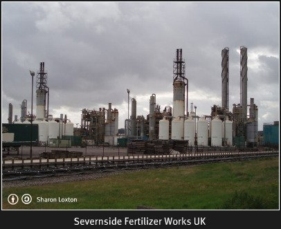 Severnside Fertilizer Works in the UK