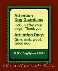 North Vancouver dog sign
